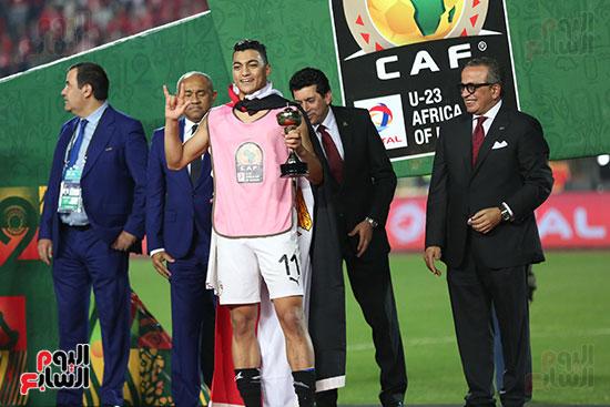 لحظة رفع المنتخب الأولمبى كأس بطولة أمم أفريقيا 2019 (5)