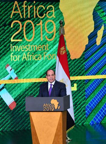 السيسى خلال مؤتمر أفريقيا 2019 (3)