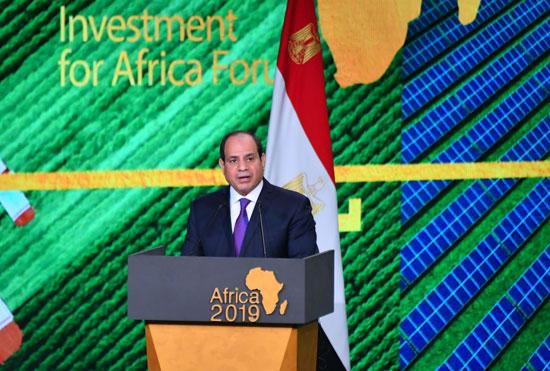 السيسى خلال مؤتمر أفريقيا 2019 (1)
