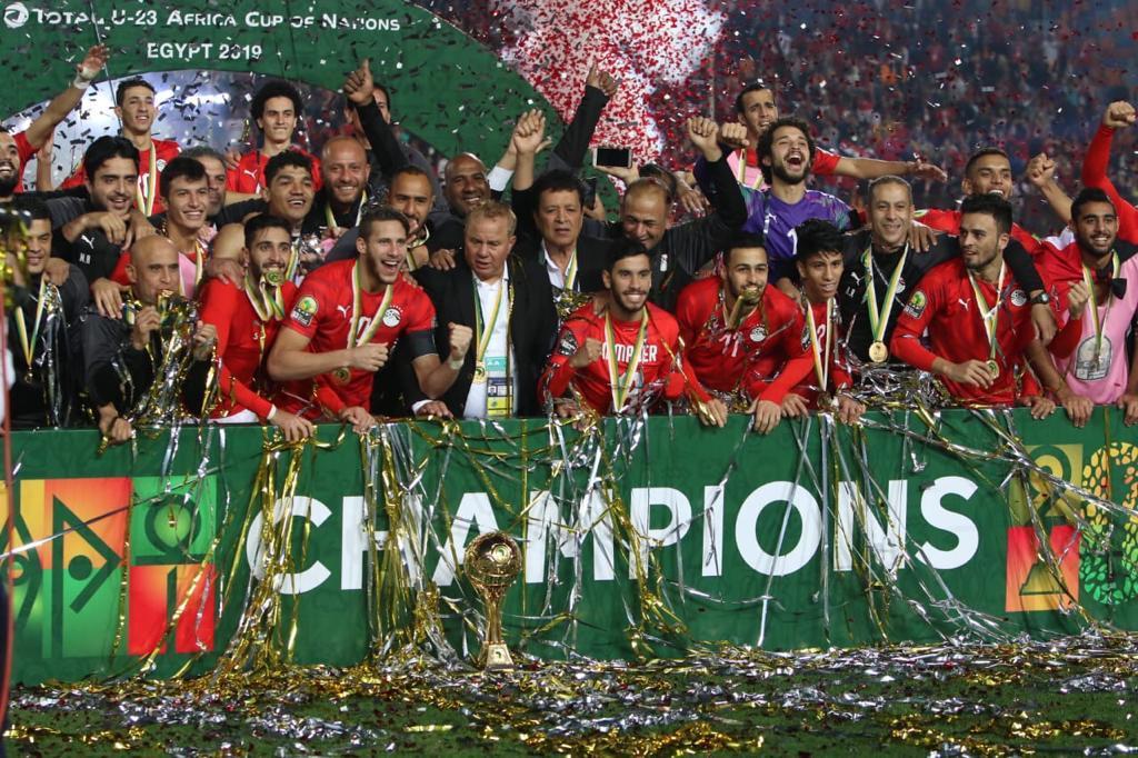 منتخب مصر بطل كأس الامم الافريقية تحت 23 عاماً