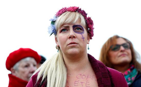 جانب من المظاهرة النسائية
