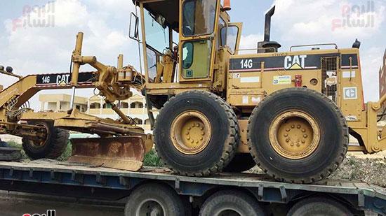 معدات النقل التقيل للعمل بالطريق