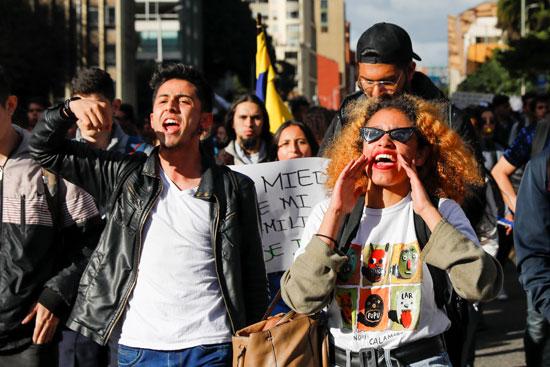 مظاهرات فى كولومبيا
