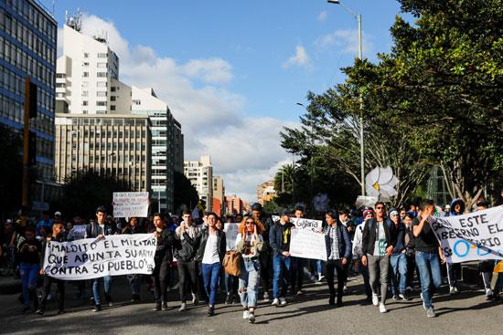 جانب من الإضراب فى كولومبيا