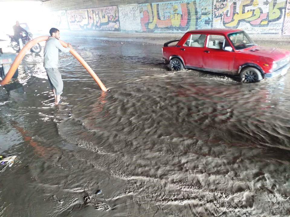 عدم تصريف مياه الأمطار