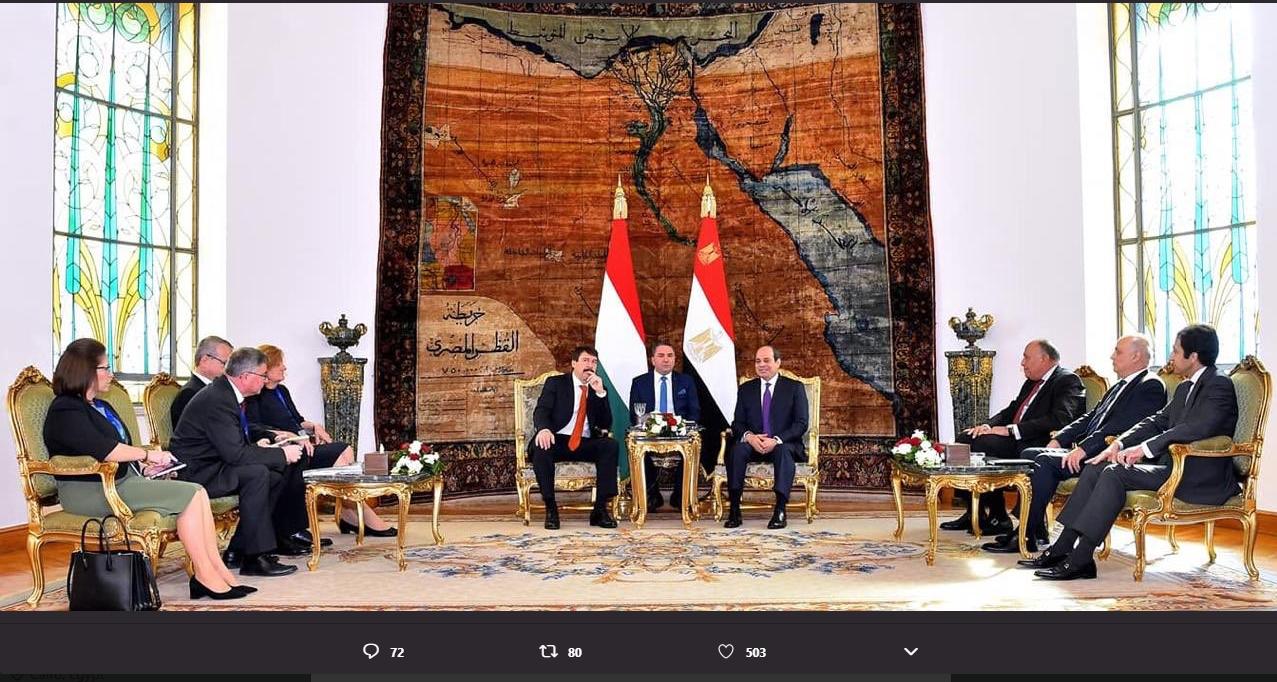 الرئيس عبدالفتاح السيسى، رئيس الجمهورية و الرئيس يانوش آدير (1)