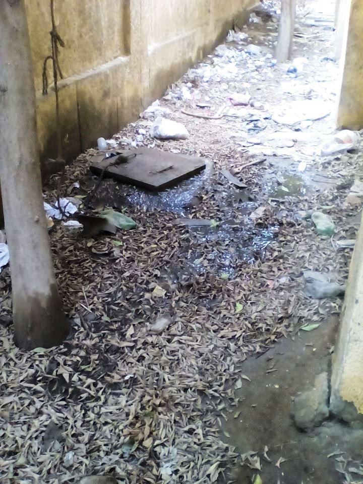 انتشار الصرف الصحي بابنية المدارس