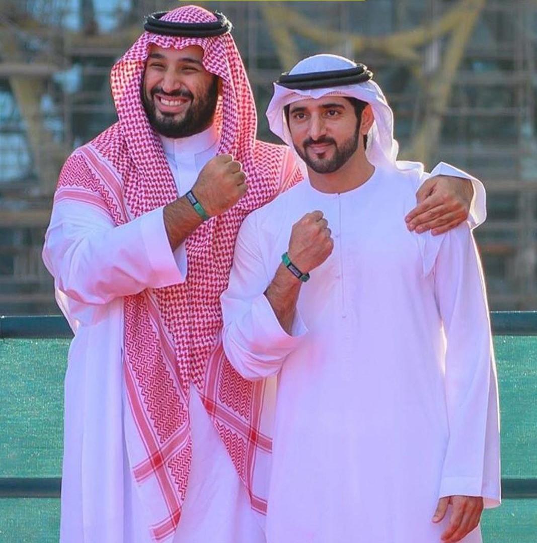 محمد بن سلمان وحمدان بن راشد