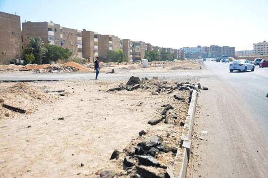 اعمال التطوير بشوارع المدينة المتأخرة
