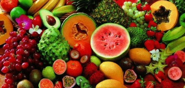 الخضروات والفواكه على شكل قوس قزح مفيد لصحتك