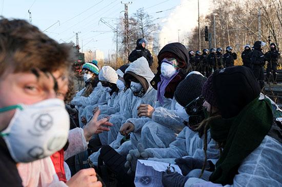 احتجاجات فى المانيا على التغير المناخى