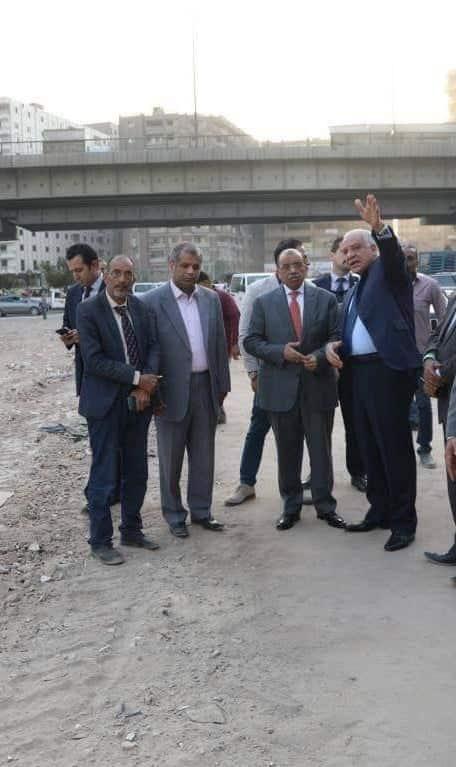 وزير التنمية المحلية ومحافظ الجيزة يتفقدان المحاور المرورية بالجيزة (3)