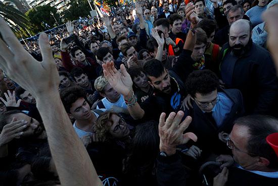 الاحتجاجات فى كتالونيا