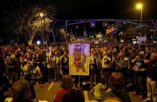 احتجاجات كتالونيا