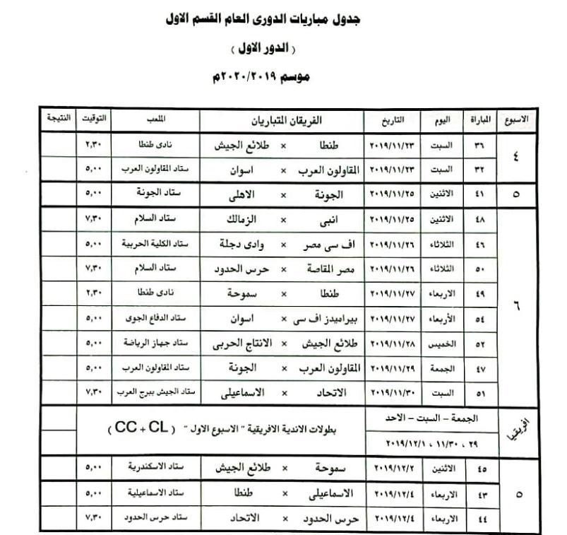جدول المؤجلات 1
