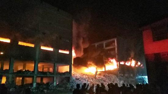 حريق-ضخم-بمصنع-للموتوسكلات-بقليوب-(7)