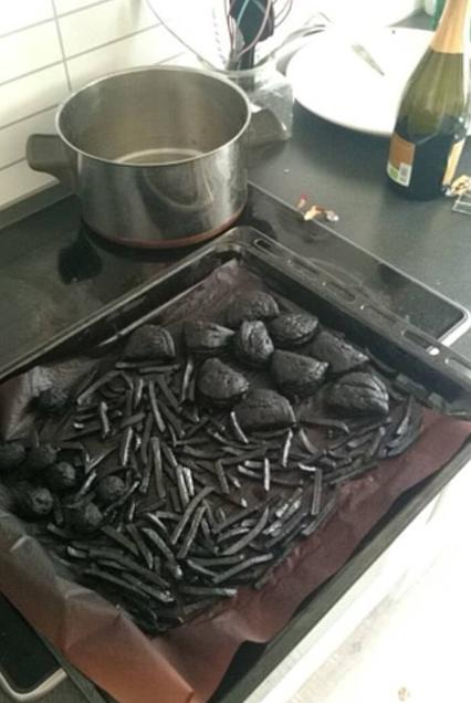 طعام متفحم