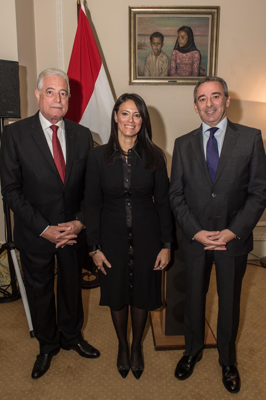 وزيرة السياحة ومحافظ جنوب سيناء والسفير المصرى