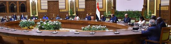 السيد الرئيس يستقبل عدداً من رؤساء الوفود المشاركة في المؤتمر الثاني عشر لشبكة المؤسسات الوطنية لحقوق الإنسان الأفريقية (3)