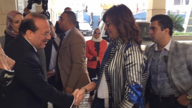 رئيس جامعة طنطا يستقبل وزيرة الهجرة