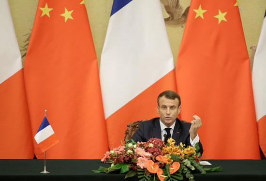 ماكرون-يسعى-لتوقيع-اتفاقات-تجارية-مع-الصين