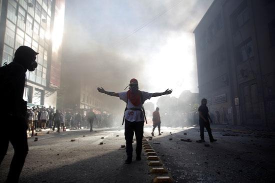تظاهرات فى تشيلى