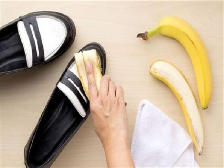 قشر الموز وتلميع الأحذية