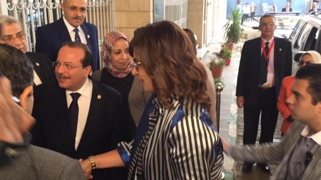 وصول وزيرة الهجرة لجامعة طنطا