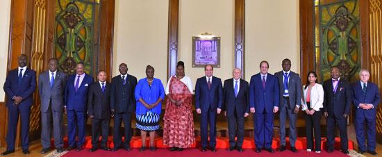 السيد الرئيس يستقبل عدداً من رؤساء الوفود المشاركة في المؤتمر الثاني عشر لشبكة المؤسسات الوطنية لحقوق الإنسان الأفريقية (1)