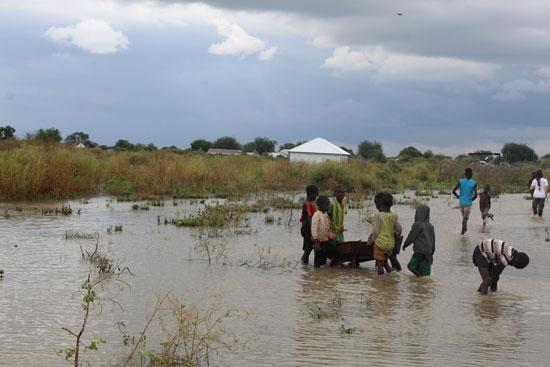 فيضانات فى جنوب السودان