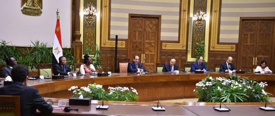 السيد الرئيس يستقبل عدداً من رؤساء الوفود المشاركة في المؤتمر الثاني عشر لشبكة المؤسسات الوطنية لحقوق الإنسان الأفريقية (2)