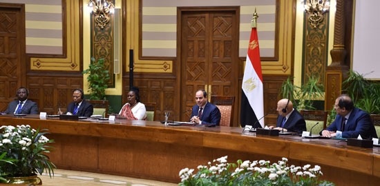 السيد الرئيس يستقبل عدداً من رؤساء الوفود المشاركة في المؤتمر الثاني عشر لشبكة المؤسسات الوطنية لحقوق الإنسان الأفريقية (4)