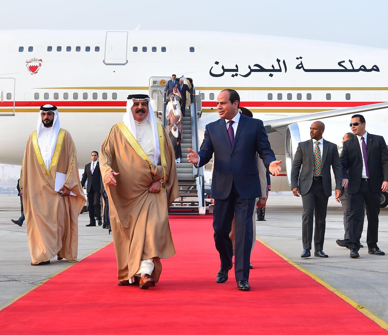 عبد الفتاح السيسي و الملك حمد بن عيسى آل خليفة ملك مملكة البحرين (6)