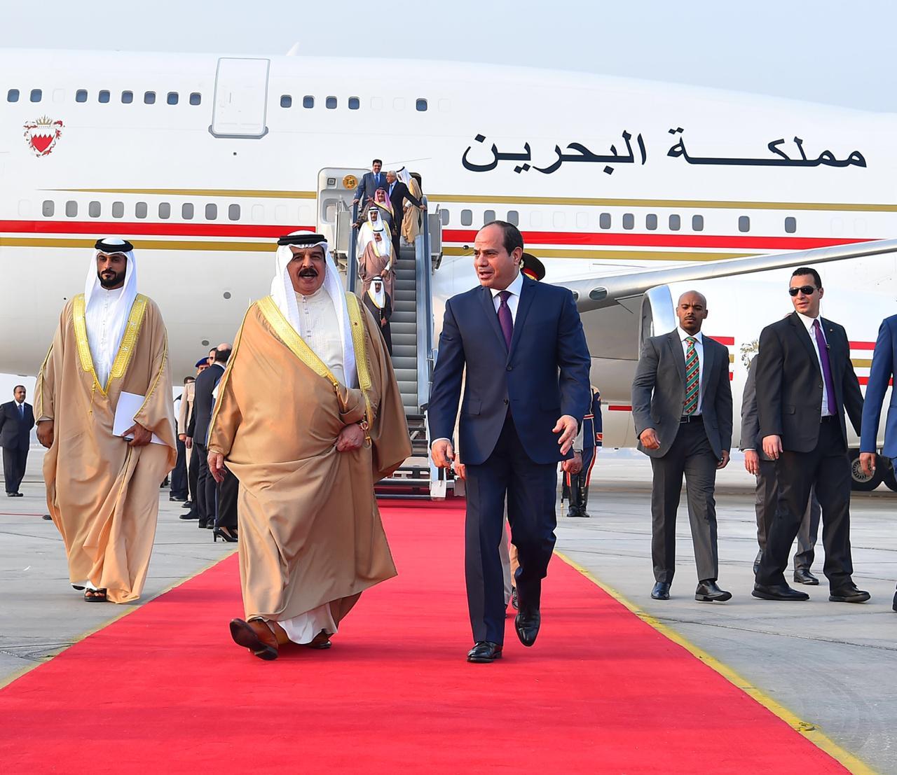 عبد الفتاح السيسي و الملك حمد بن عيسى آل خليفة ملك مملكة البحرين (3)