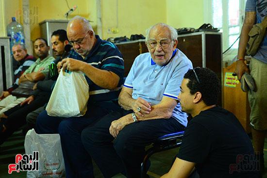 رشوان توفيق فى جنازة هيثم أحمد زكى