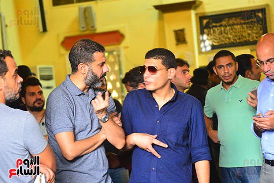 محمد فراج فى جنازة هيثم أحمد زكى