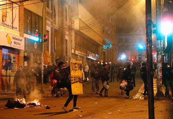 اشتباكات الشرطة والمتظاهرين