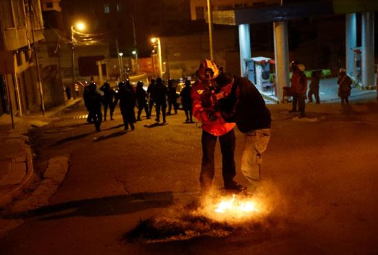 مظاهرات بوليفيا اندلعت قبل عدة أسابيع