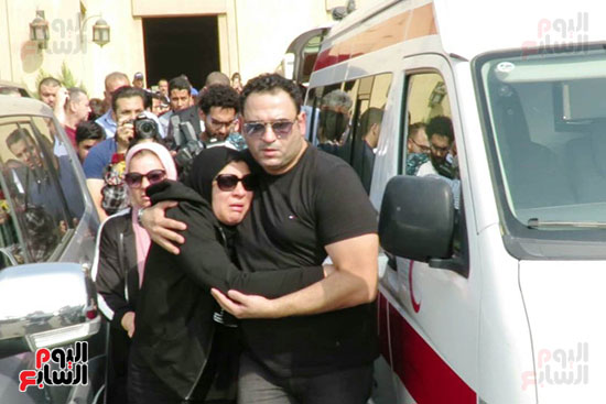 جنازة والد الفنان اكرم حسنى (6)
