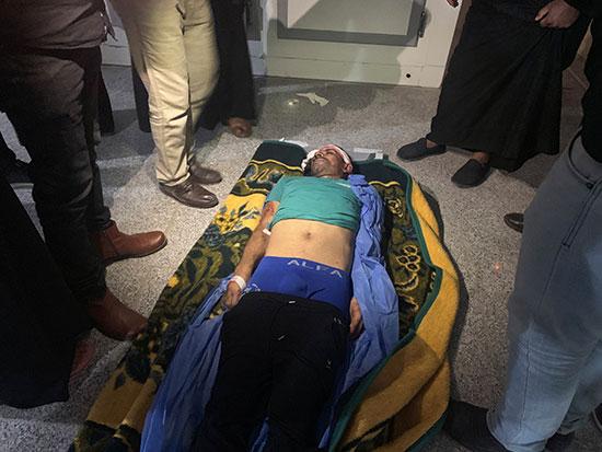 أحد ضحايا الاحتجاجات فى البصرة العراقية
