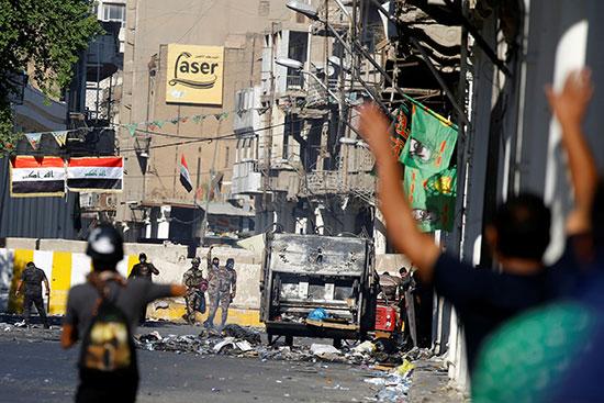 استمرار الاحتجاجات فى العراق