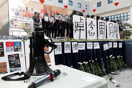 داخل جامعة هونج كونج بعد وفاة تشو