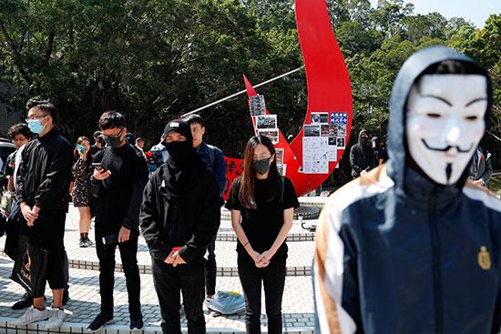 حفل إحياء ذكرى الطالب تشو بجامعة هونج كونج