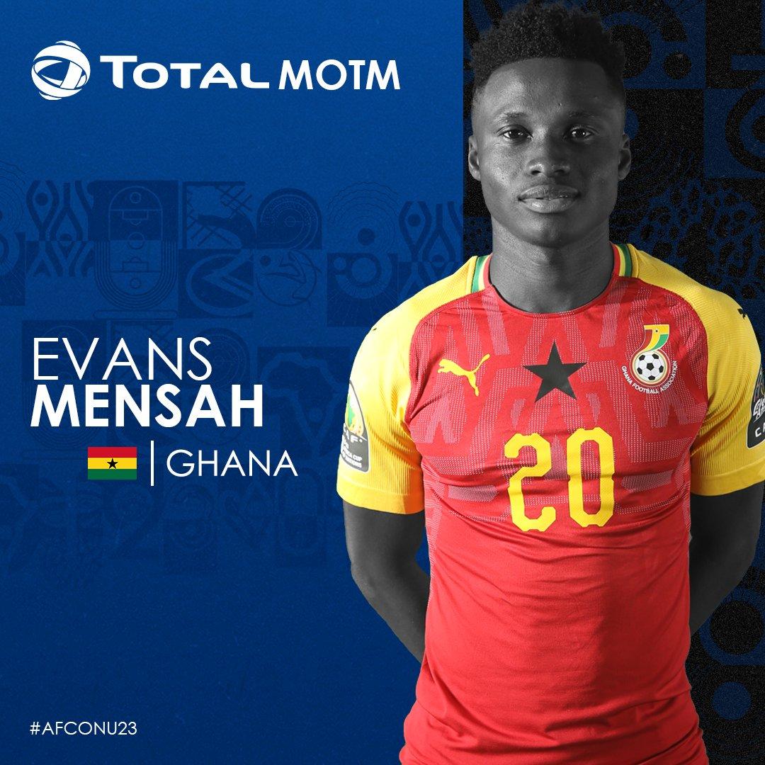 ايفانز منساه لاعب منتخب غانا