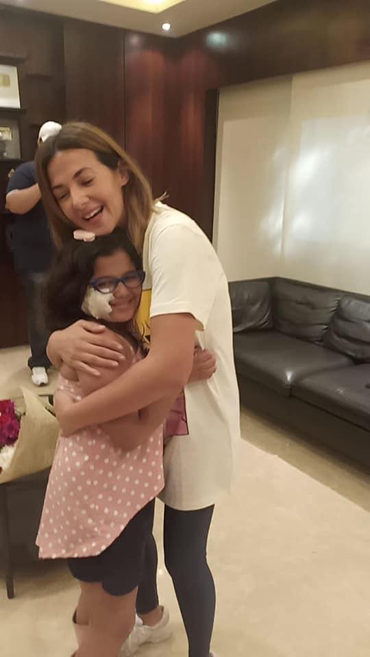 دنيا سمير غانم اثناء مقابلة الطفلة