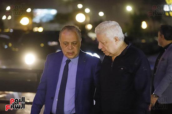 مرتضى منصور مع اشرف زكي