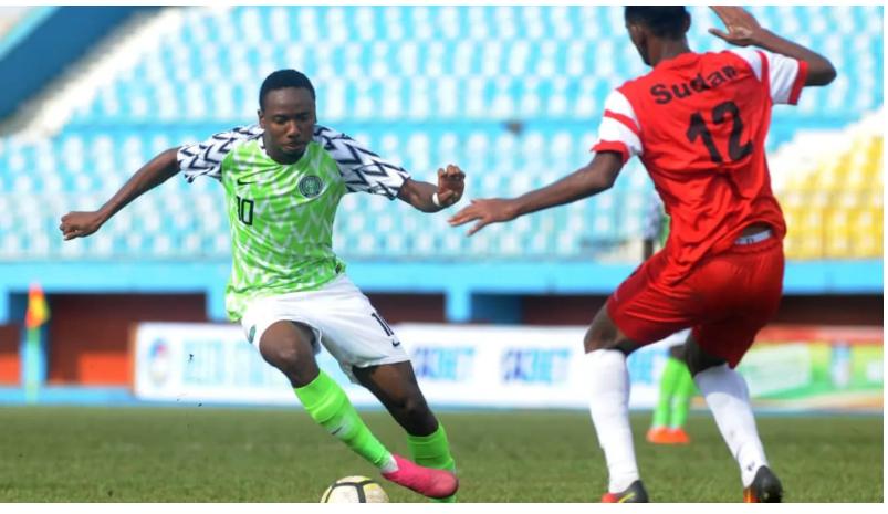 جانب من مباراة سابقة لمنتخب نيجيريا