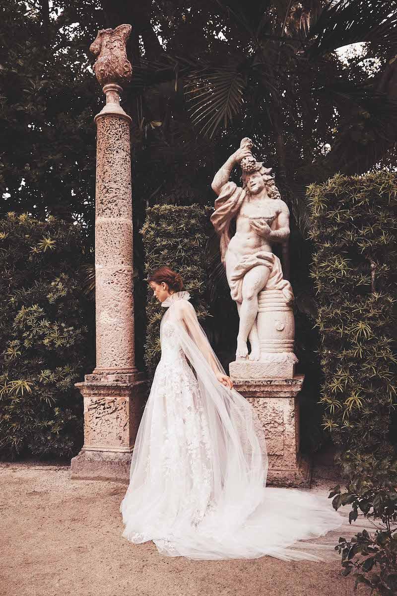 فستان زفاف بكاب موضة 2020