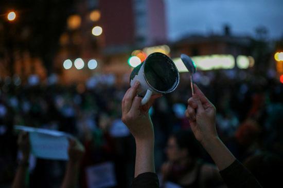 جانب من إضراب كولومبيا