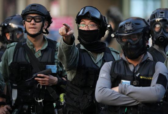 قوات الأمن فى هونج كونج